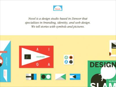 Novel Design Studio website novel development ui website design studio
