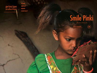 Principe Productions website development independent nonprofit design website film ui documentary