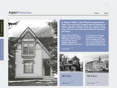 AspenVictorian ui victorian historical website design development community architecture aspen government