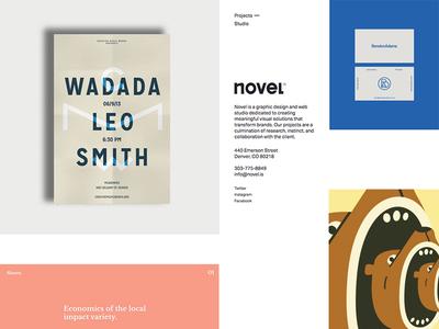 Novel website studio novel branding development design
