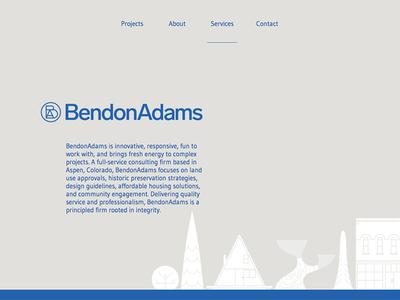 BendonAdams website historic preservation modern website aspen community architecture city planning