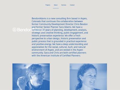BendonAdams website website modern historic preservation community city planning aspen architecture