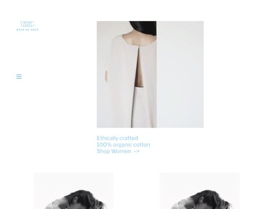 WMG site design community organic clothing modern fashion website minimal