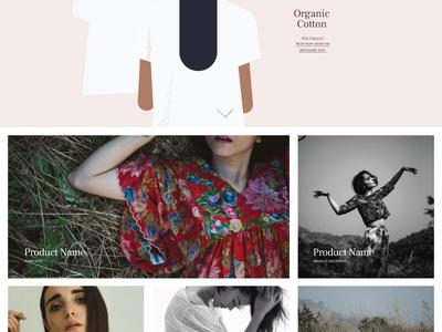 WMG site design website organic modern minimal fashion community clothing