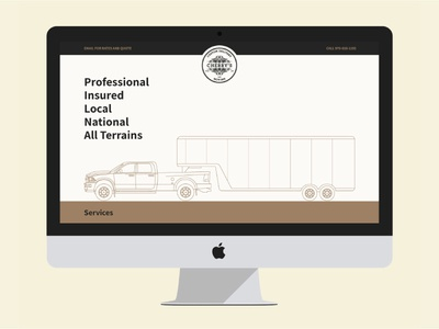 Cherry's Custom Delivery colorado transportation moving delivery design website