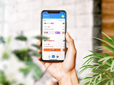 Splitsub branding illustration gradient ecommerce iphone ux sketch ui ios app