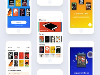 Concept iOS App design exploration minimalism clean ui app iphone ios books