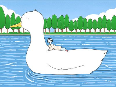In childhood dream 운무 일러스트레이터 삽화 illustrator illust illustration illu