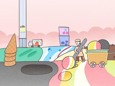Choose your favorite Icecream. 그림 삽화 illustrator cloudmoo 운무 illust illustration
