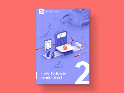 SAS — Brochure 02 medical health healthcare medicine illustration vibrant 3d cinema4d c4d brochure cover cover book