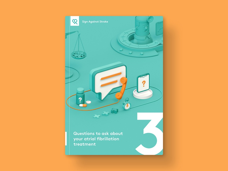 SAS — Brochure 03 cover book cover brochure c4d cinema4d 3d vibrant illustration medicine healthcare health medical
