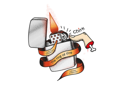 Ring Of Fire ring of fire zippo lighter fire tatto