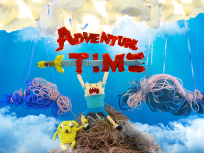 Adventure time 3D – handmade illustration po-dpo bhsad handmade 3d adventure time