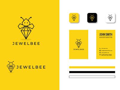 JewelBee Branding Design vector minimalist minimal design logo graphic design branding