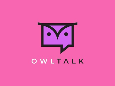 Owl Talk Brand ux ui illustration vector minimalist minimal design logo graphic design branding