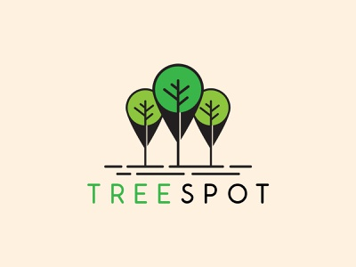 Tree Spot Modern Design ux ui illustration vector minimalist minimal design logo graphic design branding