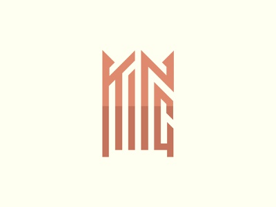 King Text-Based Logo Design ux ui illustration vector minimalist minimal design logo graphic design branding
