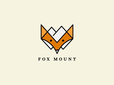 FoxMount Logo Design modern vector minimalist minimal design logo graphic design branding