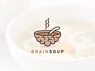 BrainSoup Logo Design modern logo vector minimalist minimal design logo graphic design branding