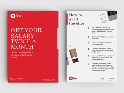 A5 Brochure for an event print design typography brochure