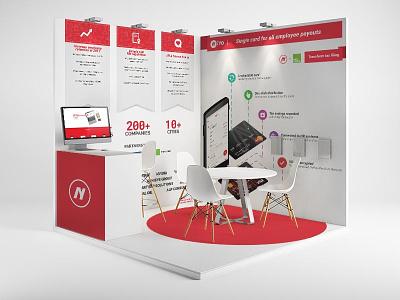 Event booth design for NiYO graphic design