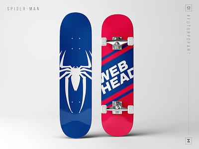 #FuturPopArt Day 1 - SpiderMan the futur pop art graphic design decks skateboard spider man design illustration