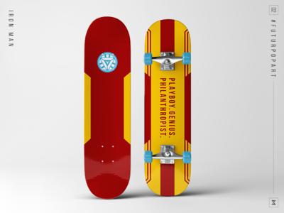 #FuturPopArt Day2 - Iron Man the futur iron man skateboard pop art illustration graphic design design decks