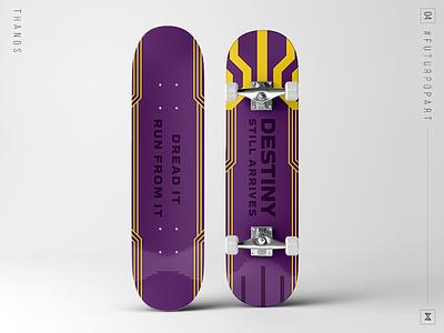 #FuturPopArt Day4 - Thanos thanos avengers the futur infinity war skateboard pop art illustration graphic design design decks
