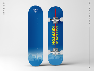 #FuturPopArt Day 6 - Superman decks design graphic design illustration pop art skateboard superman the futur