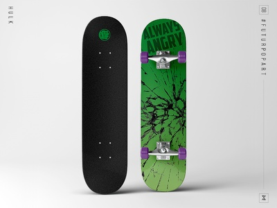 #FuturPopArt Day 8 - Hulk decks design graphic design illustration pop art skateboard hulk the futur
