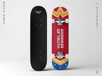 FuturPopArt Day 11 - Wonder Woman the futur wonder woman skateboard pop art illustration graphic design design decks