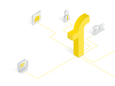 Why partner with FabHotels - Illustration isometric illustration network web illustration ui isometric
