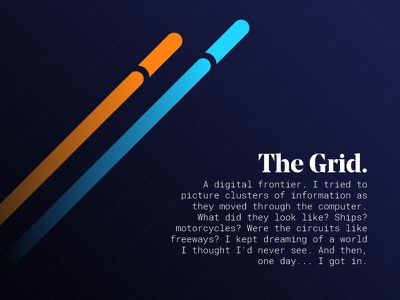 The Grid - Tron Legacy tron minimal design minimal quotes movie poster posters poster design typography graphic design