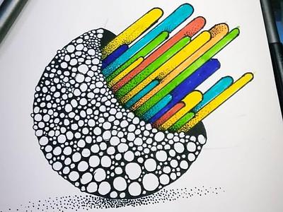 Emergence - Doodle miniature colors stippling illustration doodle doodle art doodleart
