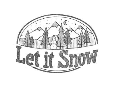 Let it snow sketch sketch ipad lettering hand lettering handdrawn illustration handlettering lettering sketchbook drawing