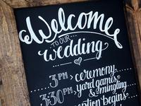 Wedding Schedule Chalkboard