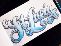 St Lucia Lettering