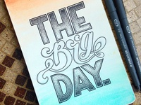 The Big Day Lettering