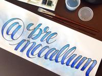 Bre McCallum Lettering