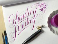 Sunday Funday Calligraphy