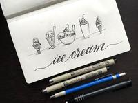 Ice Cream Illustration & Lettering