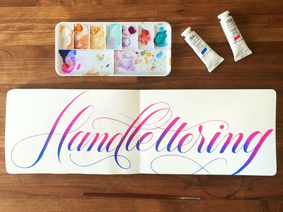 Handlettering brush lettering design watercolor typography type sketchbook painting lettering hand lettering gouache fine art drawing