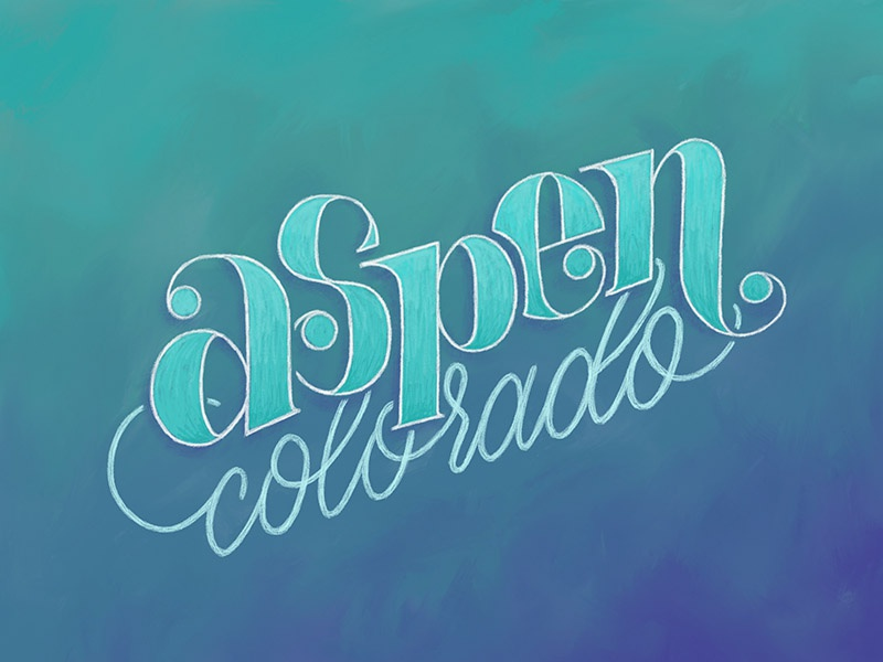 Aspen colorado by bre mccallum dribbble