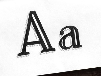 Hand Lettered A serif alphabet typography type sketchbook sketch handlettering handdrawn drawing calligraphy