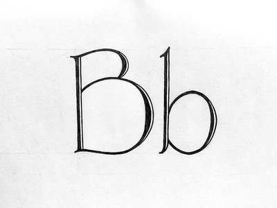 Hand Lettered B typography type sketchbook sketch serif handlettering handdrawn drawing calligraphy alphabet