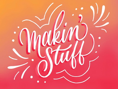 Always Makin' Stuff ipad lettering typography type sketchbook sketch serif handlettering handdrawn drawing design calligraphy ipad