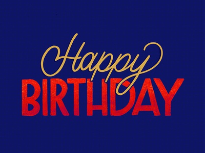 Happy Birthday! ipad  lettering birthday typography type sketchbook sketch illustration handlettering handdrawn drawing design calligraphy