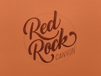 Red Rock Canyon Lettering