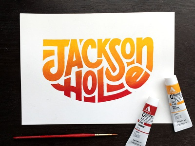 Jackson Hole Painting ipad lettering wyoming typography type sketchbook sketch illustration handlettering handdrawn drawing design calligraphy