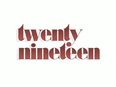 Twenty Nineteen ipad pro illustration ipad lettering graphic design handdrawn lettering handlettering sketchbook design drawing typography type